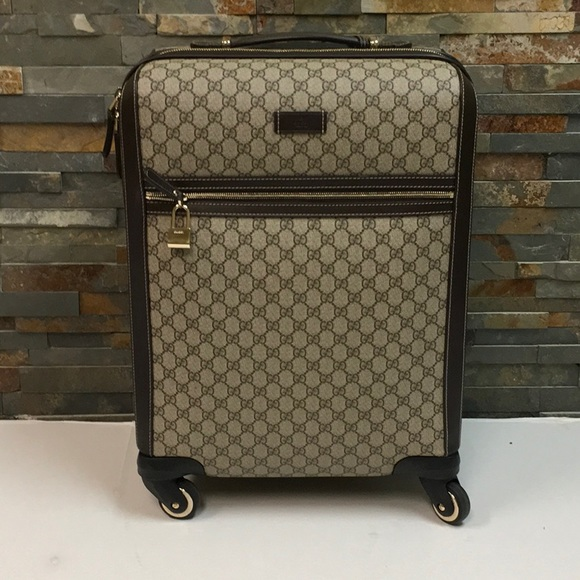 36beafd95624 Gucci Bags | Gg Supreme Canvas Carry On Medium Suitcase | Poshmark